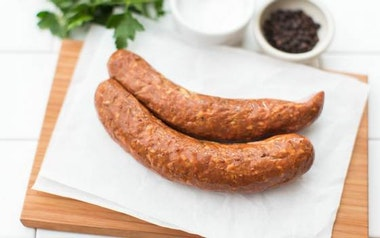 Smoked Lamb Sausage with Sundried Tomato (Frozen)