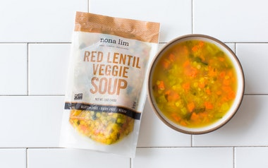 Red Lentil Veggie Soup