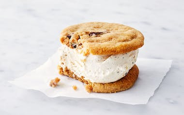Salted Chocolate Chip Cookie & Coffee Ice Cream Sandwich
