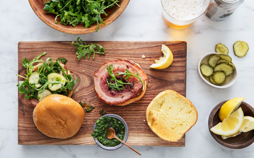 Porchetta Sandwiches With Pesto Amp Arugula Good Eggs Meal