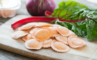 Sweet Onion & Red Chard Ravioli