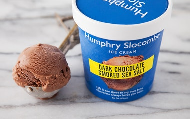 Dark Chocolate Smoked Sea Salt Ice Cream
