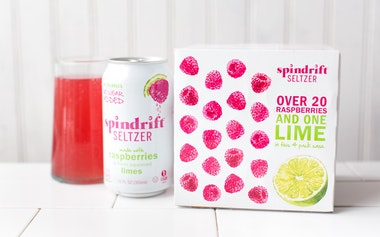 Raspberry Lime Seltzer Water