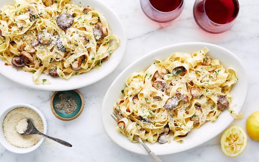 Creamy Mushroom Pasta - Good Eggs Meal Kits - SF Bay