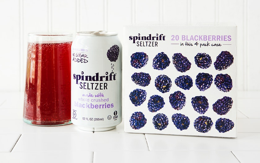 Blackberry Seltzer Water