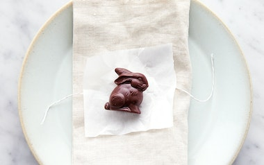 Organic Dark Chocolate Placesetting Bunny