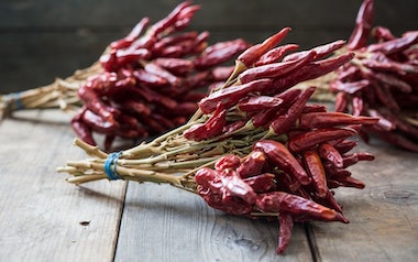 Dried Cayenne Pepper Bunches