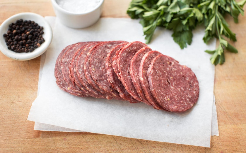 Grass-fed Beef Summer Sausage, Sliced (Frozen)