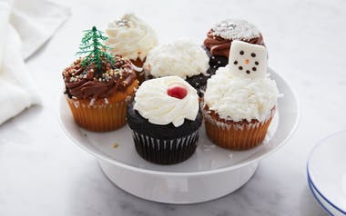 Assorted Holiday Cupcakes
