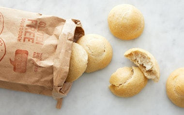 Gluten-Free Sourdough Dinner Rolls