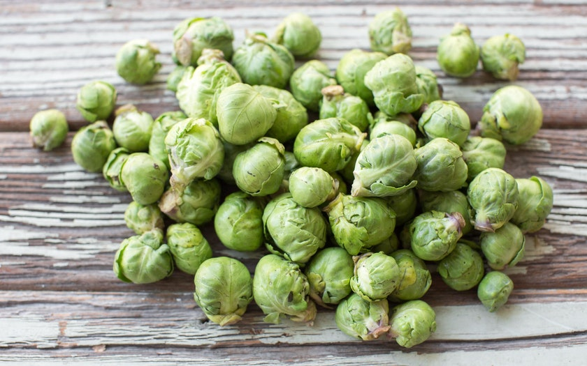 "Organic ""Rough Around the Edges"" Baby Brussels Sprouts"