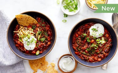 Veggie Chili with Pinto Beans & Baby Kale