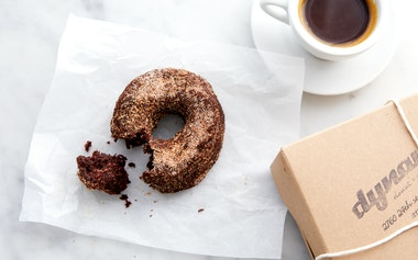 Vegan Spiced Chocolate Donut