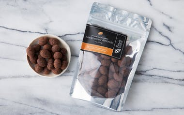 Chocolate Covered Caramelized Almonds