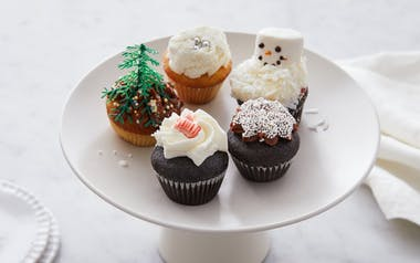 Assorted Mini Holiday Cupcakes