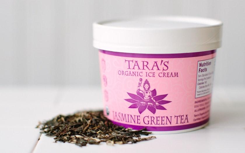 Organic Jasmine Green Tea Ice Cream - Tara's Organic Ice ...