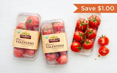 Organic & Fair Trade On-the-Vine Valentino Tomato Trio (Mexico)