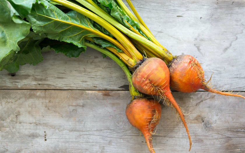 Organic Bunched Gold Beets