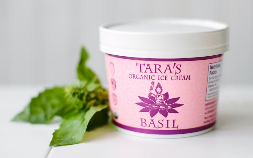 Organic Basil Ice Cream