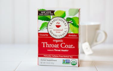 Organic Throat Coat Tea Bags