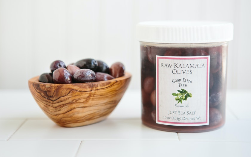 Raw Kalamata Olives