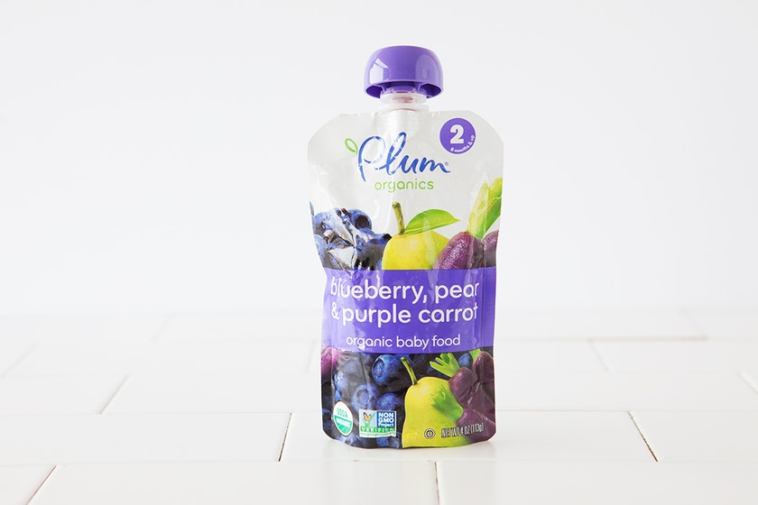 Organic Blueberry, Pear & Purple Carrot Baby Food (6+ mos)